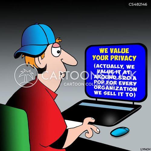 online privacy cartoon