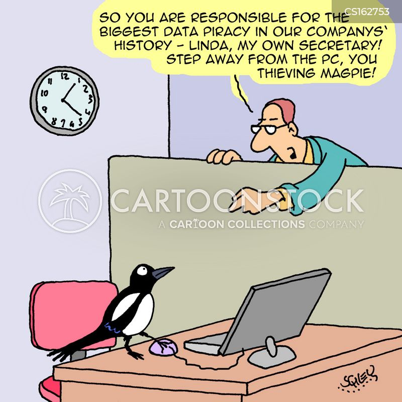 magpies cartoon