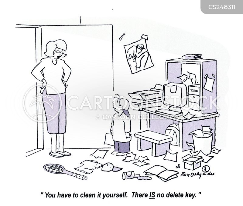 delete key cartoon
