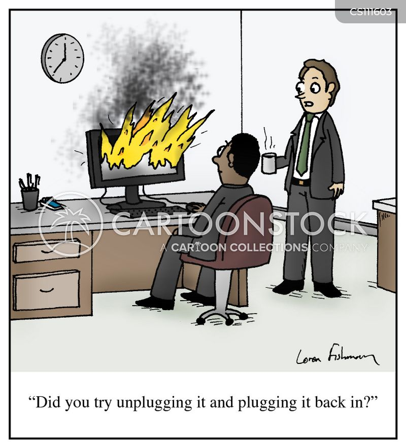 desktops cartoon