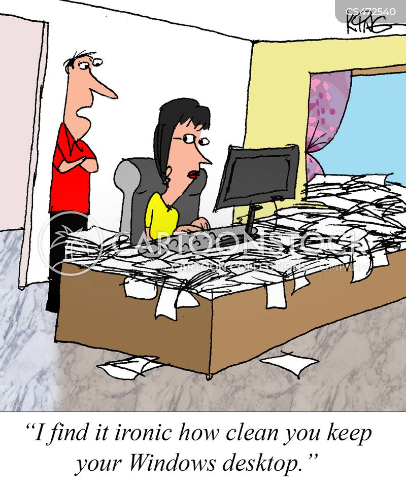Clean Desk Cartoons And Comics Funny Pictures From Cartoonstock