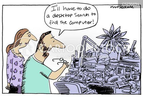 cluttered cartoon