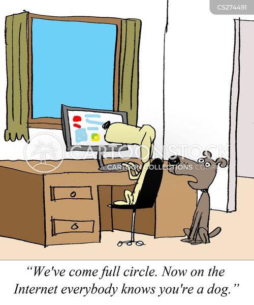 social networker cartoon