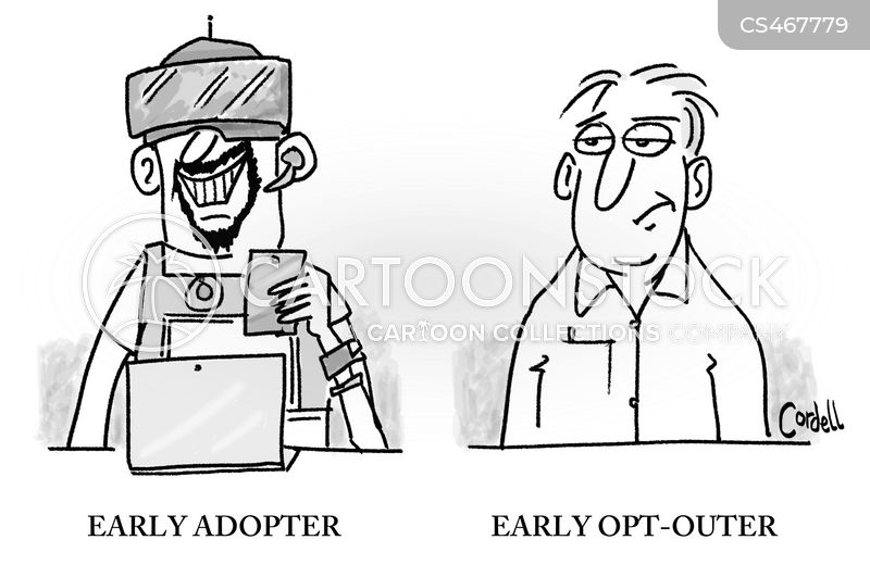early adopter cartoon
