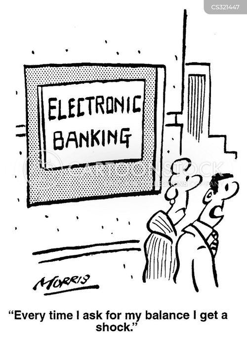 Electronic Banks Cartoons And Comics