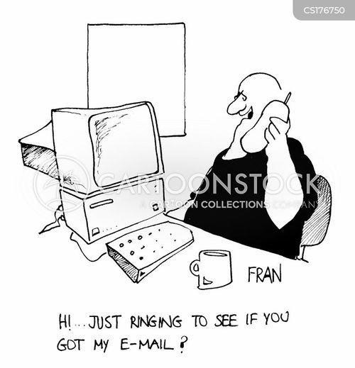 e-mailing cartoon