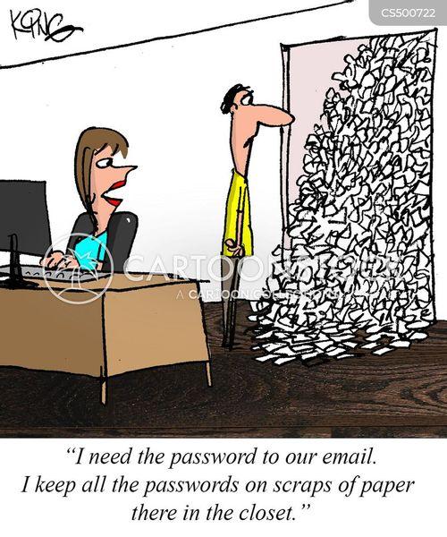 password prompt cartoon