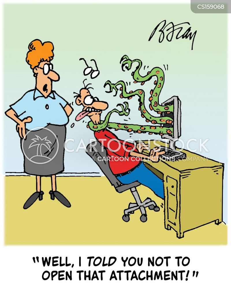 computer viruses cartoons and comics funny pictures from