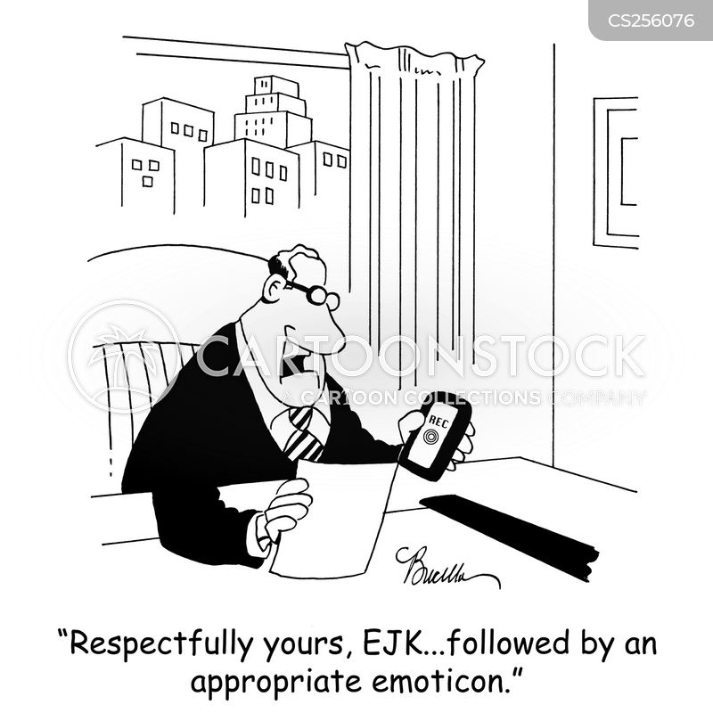 dictating letters cartoon