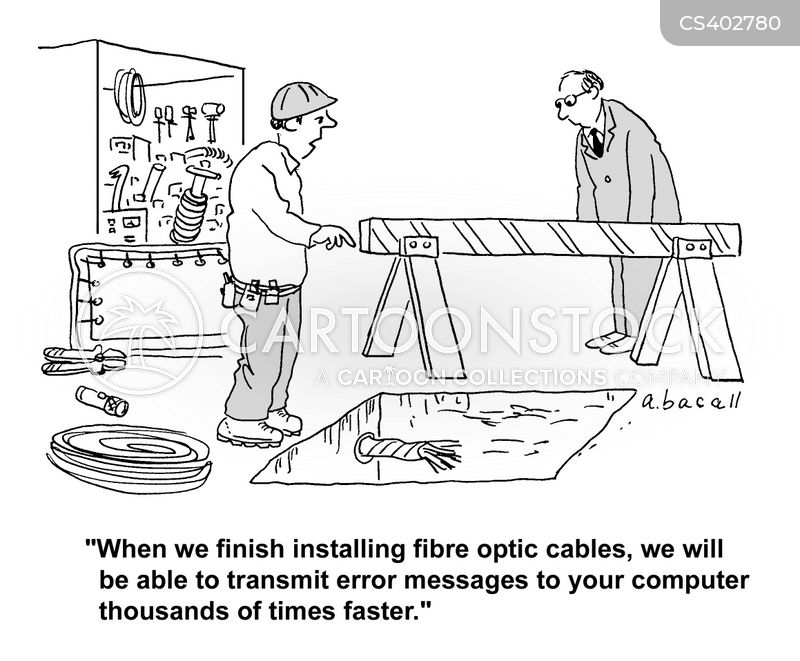 computer cables cartoon