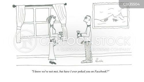 poking cartoon