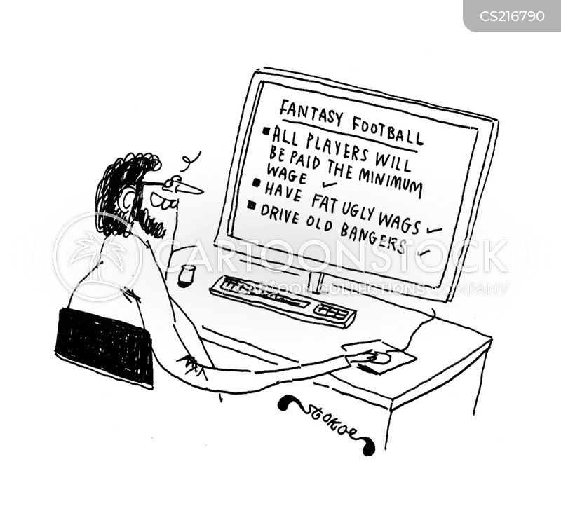 fantasy football league cartoon