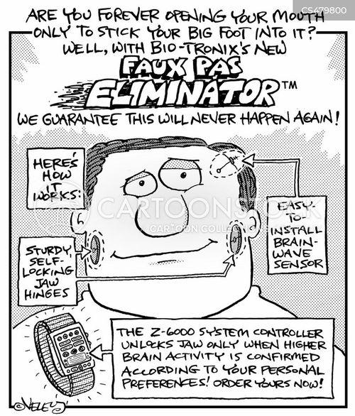 social blunder cartoon
