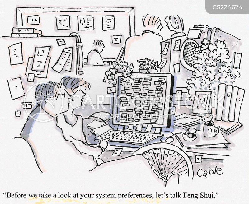 messy desks cartoon