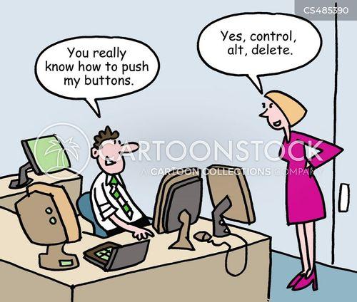 workplace romance cartoon
