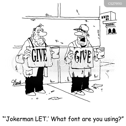 computer fonts cartoon