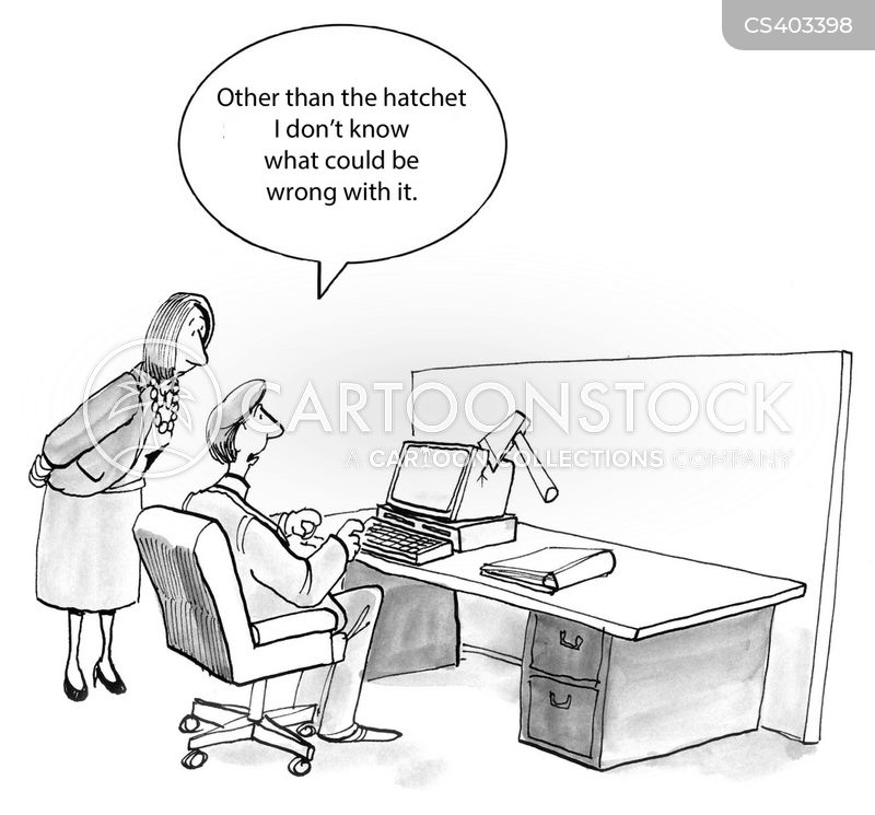 Hatchet Cartoons And Comics Funny Pictures From Cartoonstock