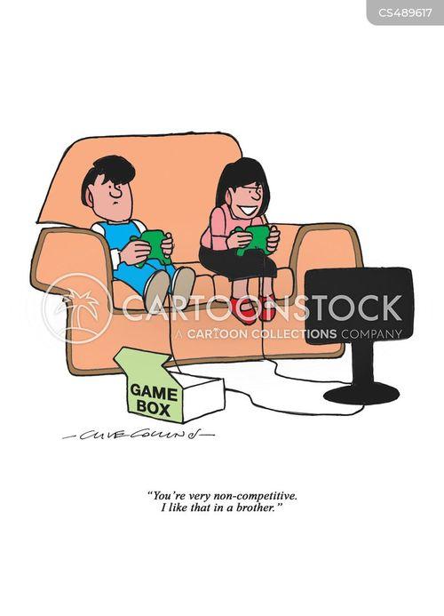 game console cartoon