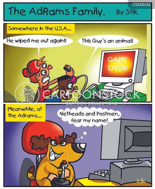 vicious players cartoon