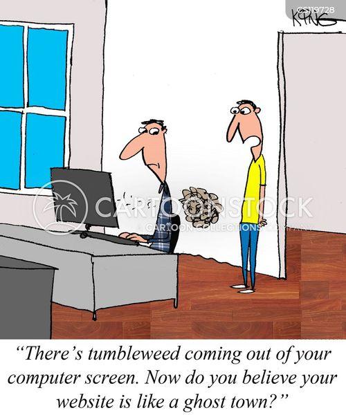 web manager cartoon