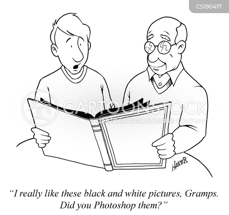 black and white picture cartoon
