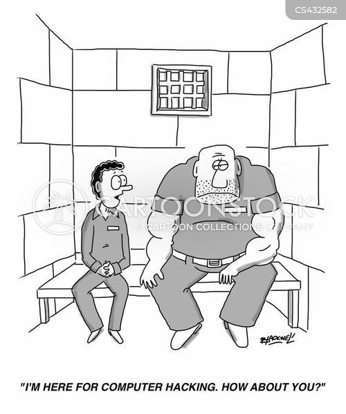 cyber criminals cartoon