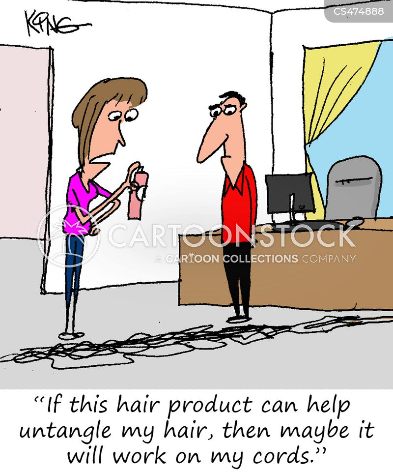 hair sprays cartoon