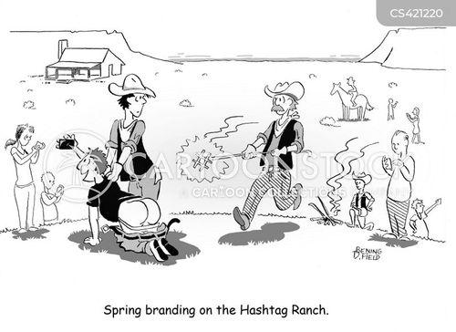 hashtags cartoon
