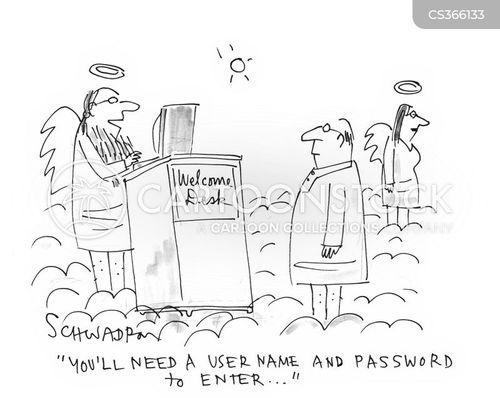 user names cartoon