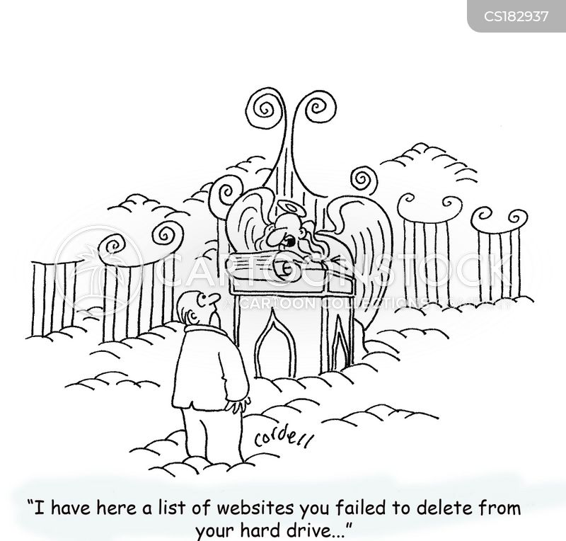 clean your hard drive cartoon