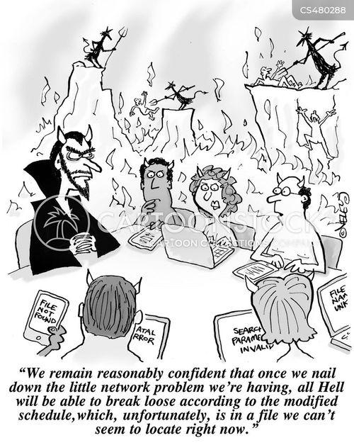 all hell breaks loose cartoon