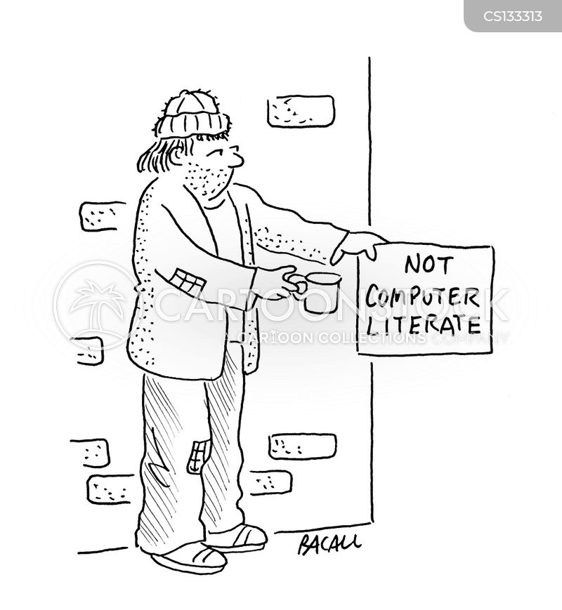 computer literate cartoon