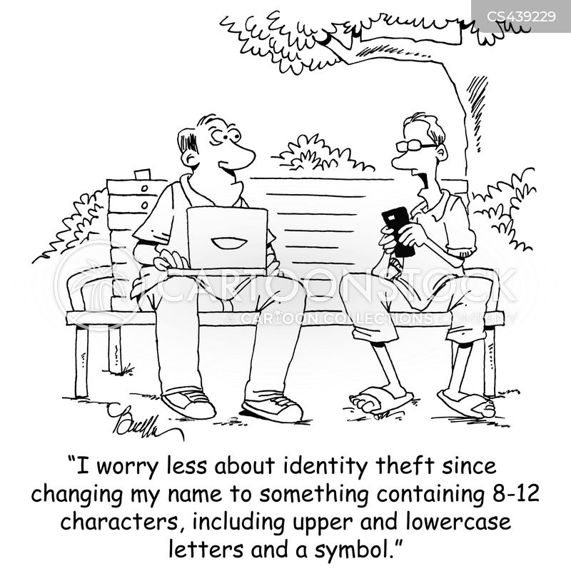 computer password cartoon