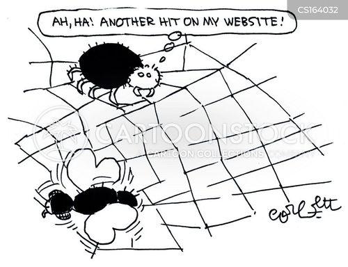 site traffic cartoon