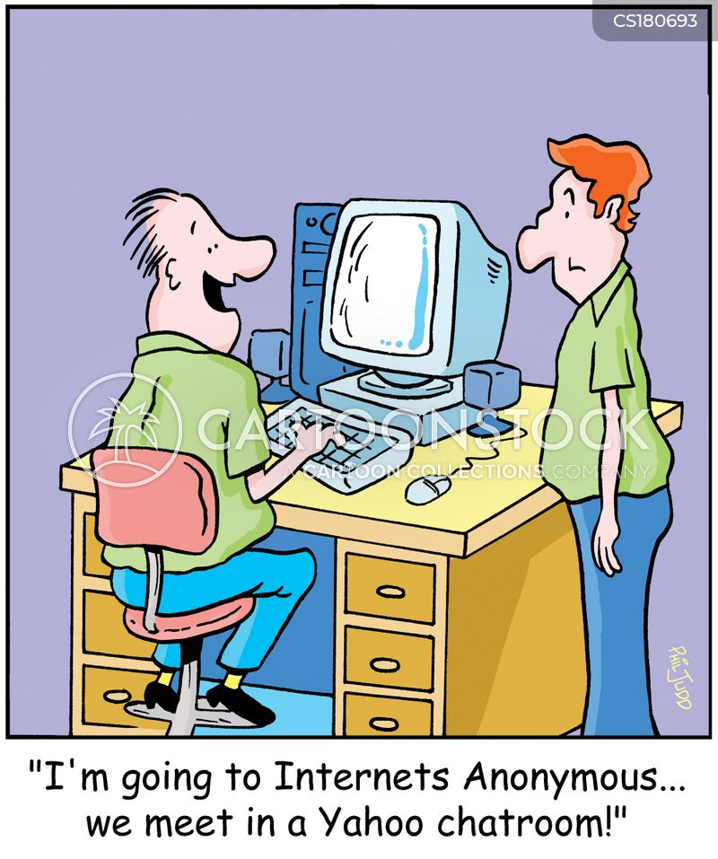 computer geek cartoon