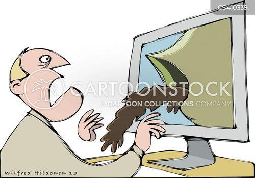 web address cartoon