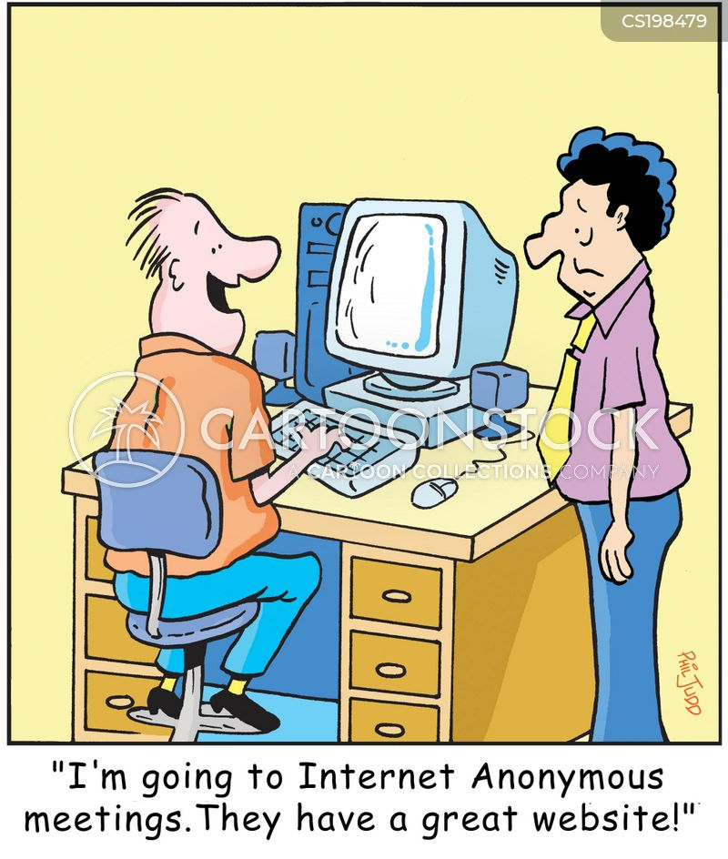 internet surfing cartoon