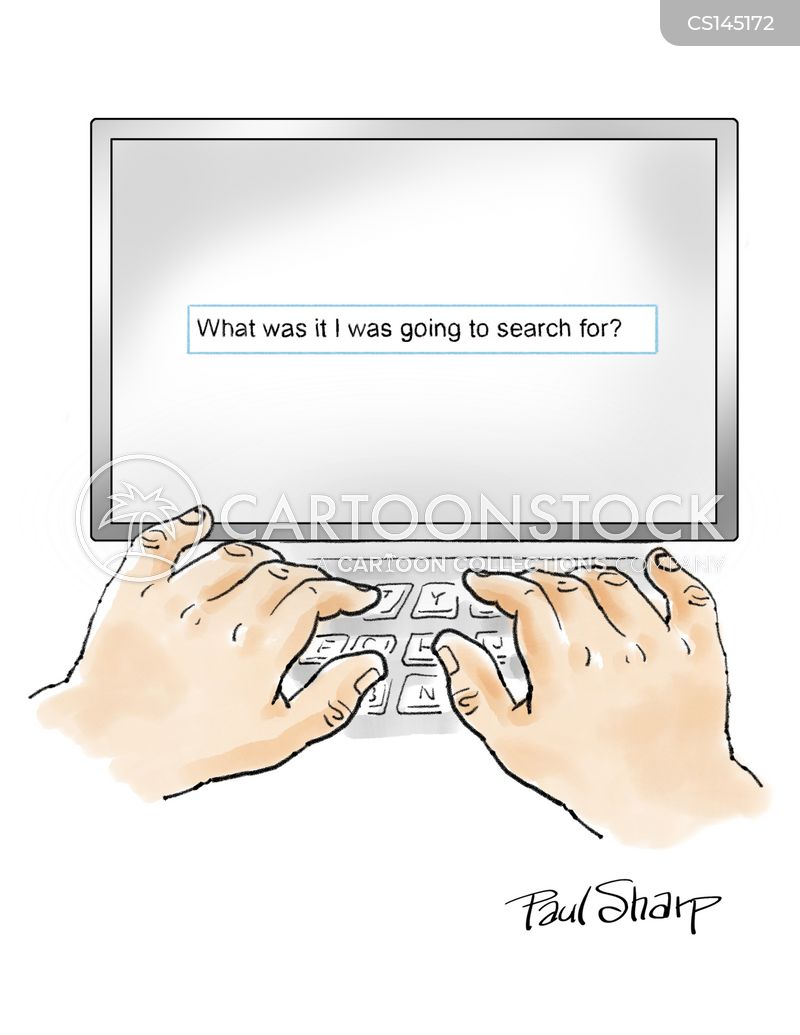 online searches cartoon