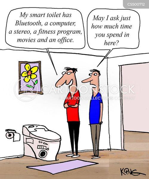 smart-home cartoon
