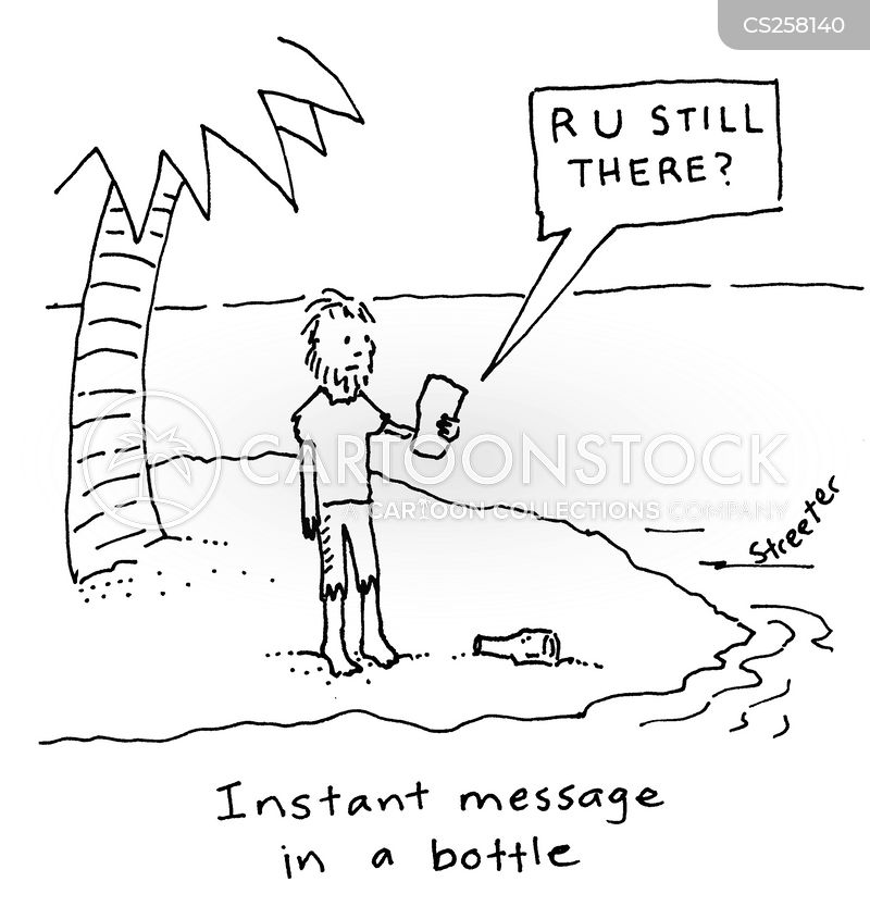 instant message cartoon