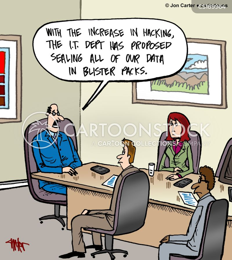 data hacking cartoon