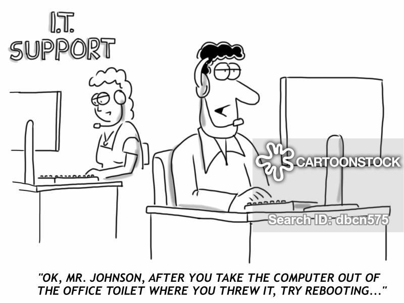 computer rage cartoon