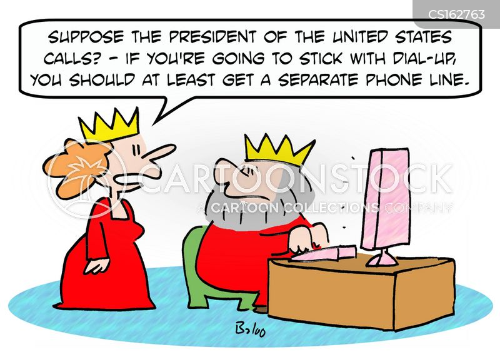 dial-up cartoon