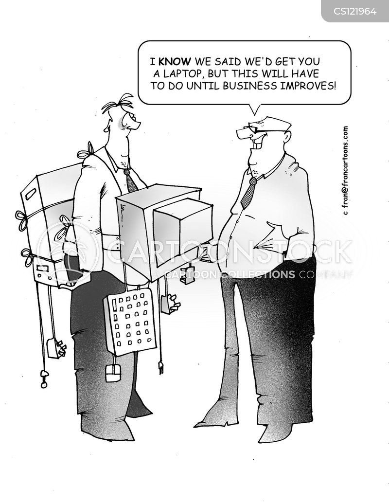 company computer cartoon