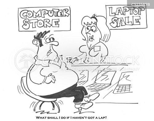 computer store cartoon