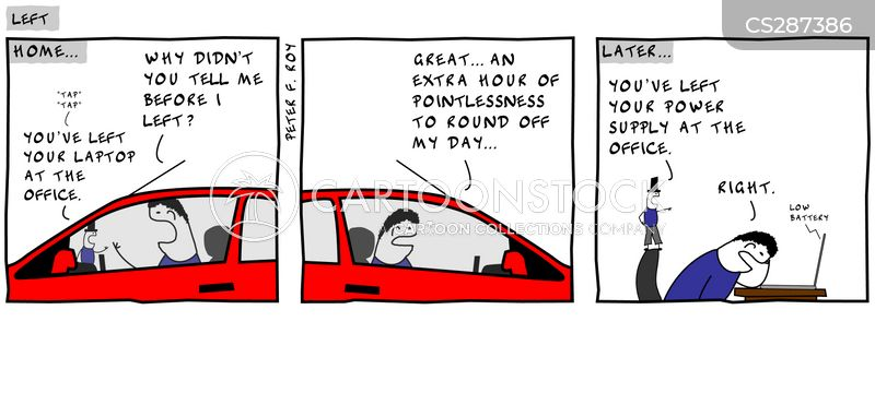 forgetting things cartoon