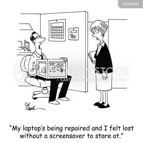 computer repairs cartoon