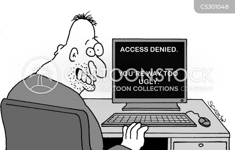 access denied cartoon