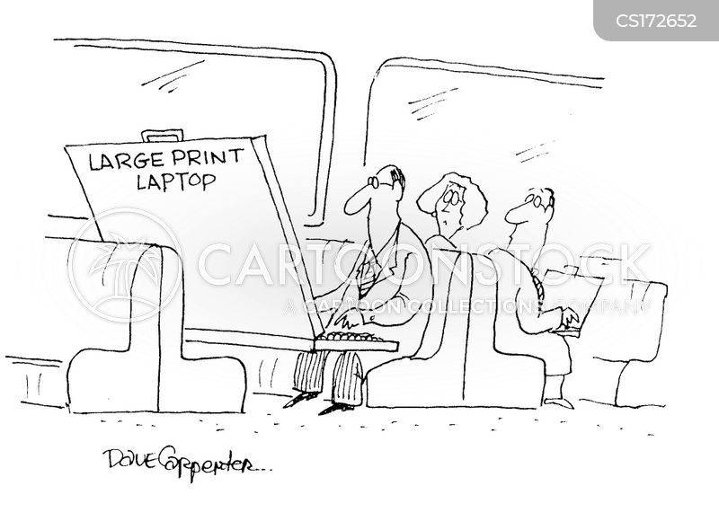 portable computer cartoon