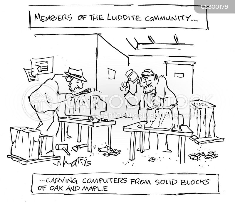 luddism cartoon